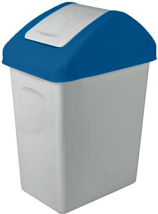 Kosz na śmieci Branq do segregacji uchylny 25L niebieski (BRA000085) 1