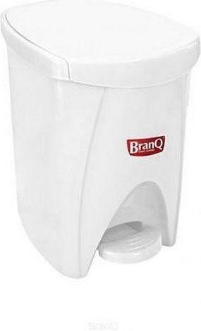 Kosz na śmieci Branq na pedał 6L biały (BRA000119) 1