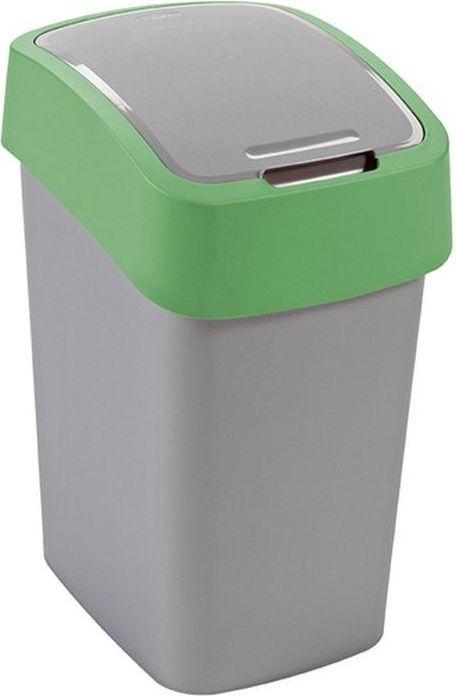 Kosz na śmieci Curver Pacific Flip do segregacji uchylny 10L zielony (CUR000227) 1