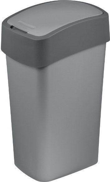 Kosz na śmieci Curver Pacific Flip do segregacji uchylny 50L szary (CUR000180) 1