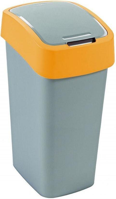 Kosz na śmieci Curver Pacific Flip do segregacji uchylny 50L żółty (CUR000174) 1