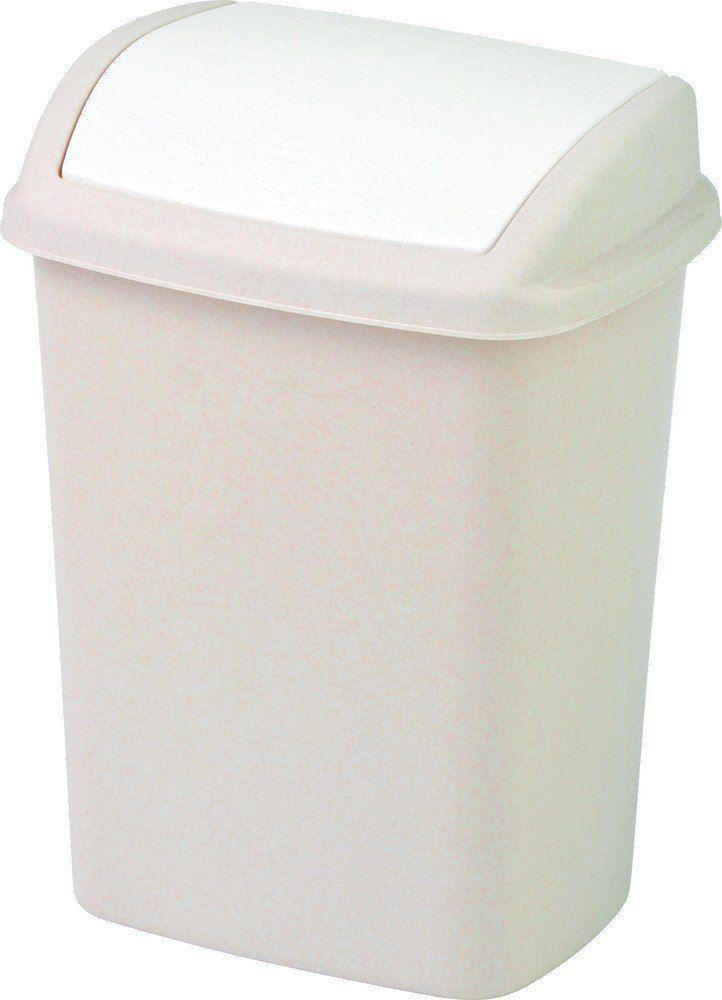 Kosz na śmieci Curver Dominik uchylny 10L kremowy (CUR000081) 1