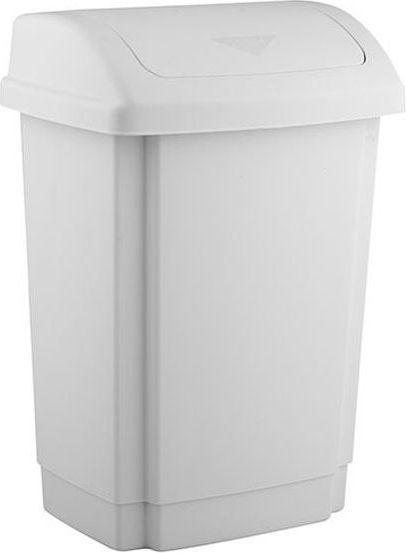 Kosz na śmieci Plast Team Swing uchylny 10L biały (TEA000254) 1