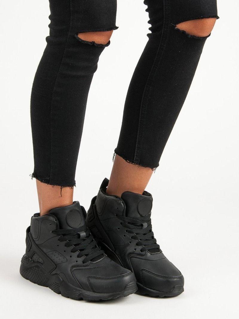 Buty damskie 40 converseconversy czarne długie za kostkę