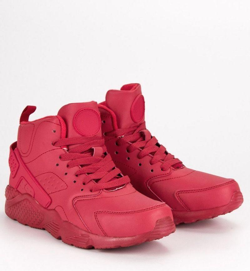 buty czerwone za kostke męskie