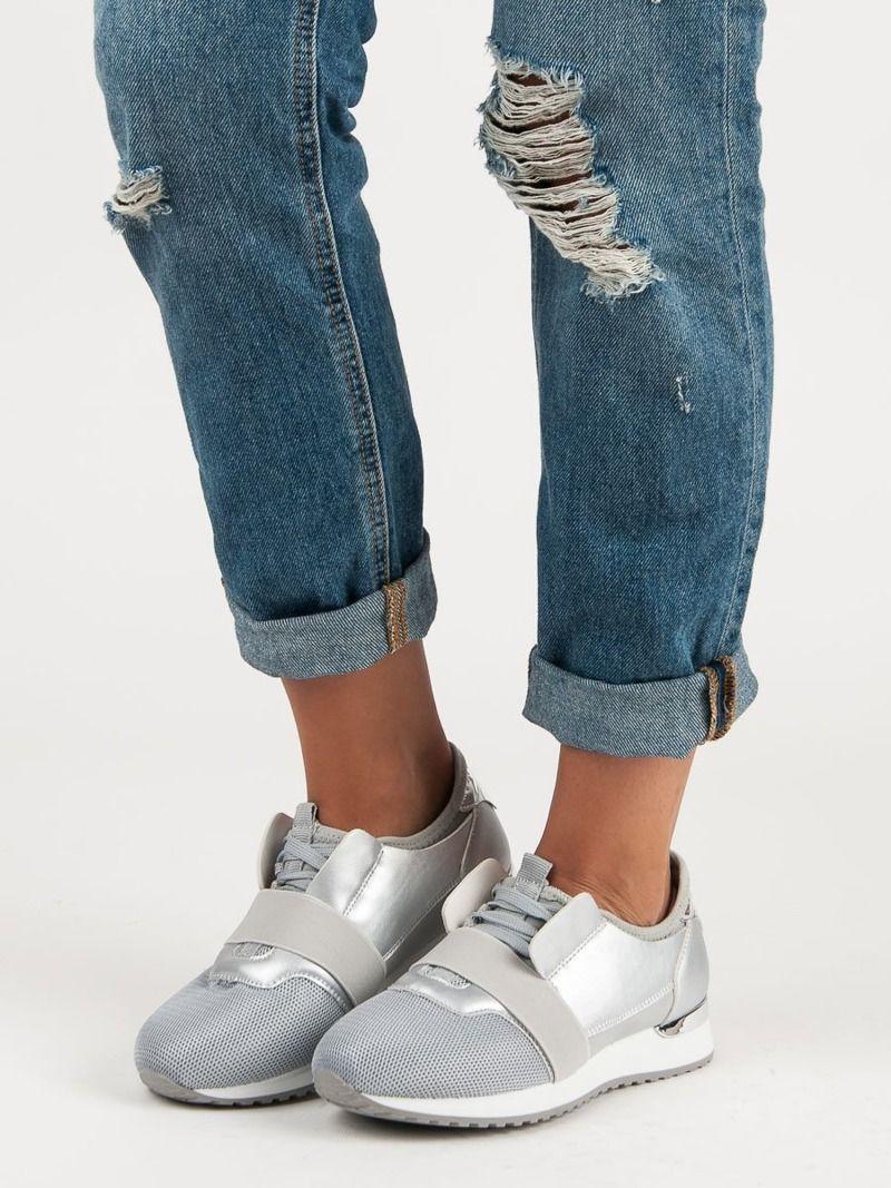 Merg Buty damskie wsuwane szaro srebrne r. 37 ID produktu: 4904338