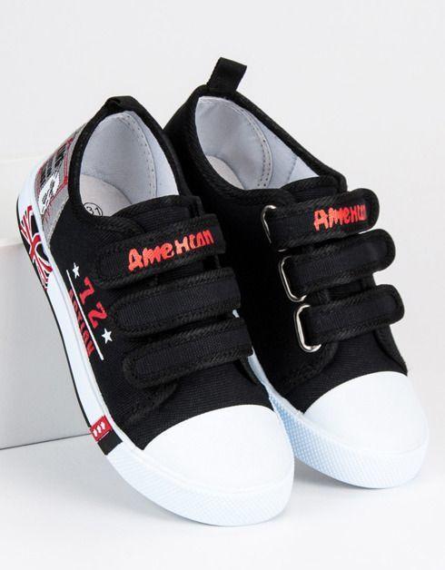 American Club Trampki dziecięce na rzep czarne r. 31 ID produktu: 4906567