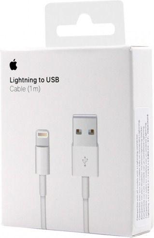 Kabel USB Apple ORYGINALNY KABEL USB APPLE IPHONE 5 5S 6 6S 7 8PIN NOWE OPAKOWANIE 2018 ID produktu: 4910087