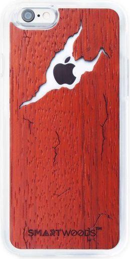 SmartWoods Case Etui Drewniane Cracked Red Iphone 6 6S 1