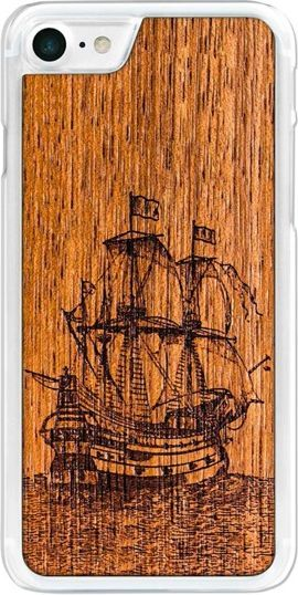 SmartWoods Case Etui Drewniane Galleon Clear Iphone 7 8 1