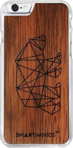 SmartWoods Case Etui Drewniane Bear Clear Iphone 7 8 1