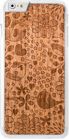 SmartWoods Case Etui Drewniane Birds Clear Iphone 7 8 1