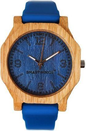 Zegarek SmartWoods Unisex Drewniany Hexa 8841 Dąb Blue 1