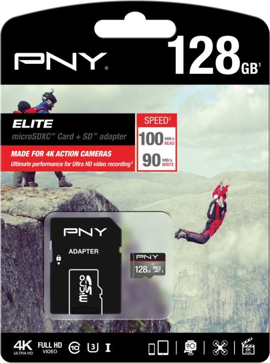 Karta PNY Technologies MicroSD 128 GB Class 10  (SDU128ELIPER-EF) 1