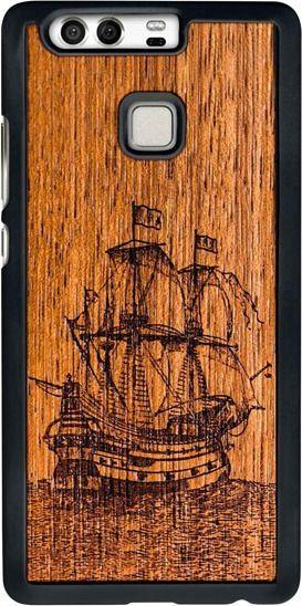SmartWoods Case Etui Drewniane Galleon Huawei P9 1
