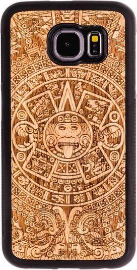SmartWoods Case Etui Drewniane Aztec Dark Samsung Galaxy S6 1