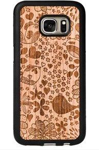 SmartWoods Case Etui Drewniane Birds Samsung Galaxy S7 1