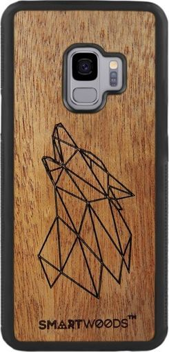 SmartWoods Case Etui Drewniane Wolf Samsung Galaxy S9 1