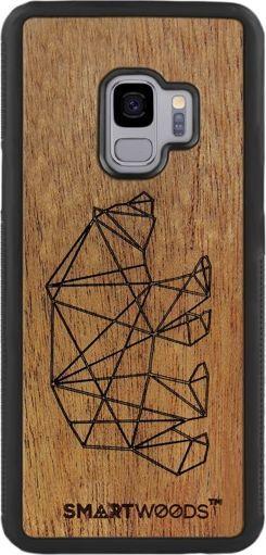 SmartWoods Case Etui Drewniane Bear Samsung Galaxy S9 1
