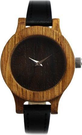 Zegarek SmartWoods Drewniany 22881 damski Simple Dąb czarny 1