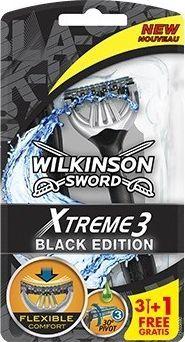 Wilkinson Sword MASZYNKI JEDNOCZĘŚCIOWE XTREME3 BLACK EDITION /3+1 szt. 1