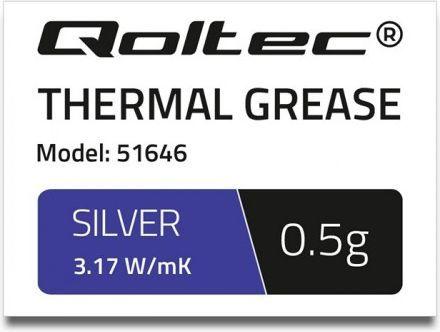 Pasta termoprzewodząca Qoltec 0.5g (51646) 1