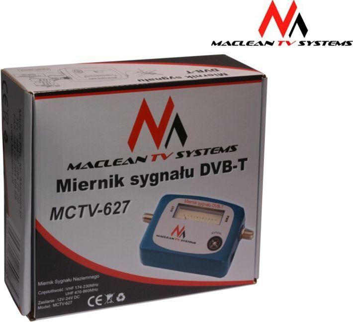 Maclean Miernik sygnalu DVB-T MCTV-627 Do ustawiania anten DVB-T 1