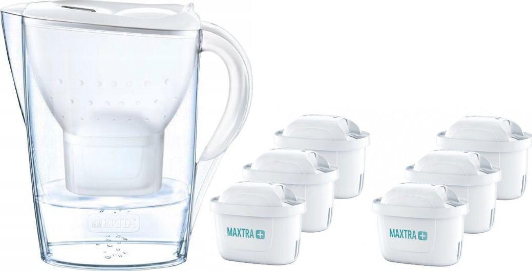 Dzbanek filtrujący Brita Marella Cool biały + 6 wkładów 1
