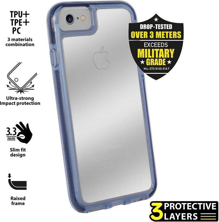 Puro Etui Impact Pro Hard Shield Iphone 8 / 7 granatowe 1