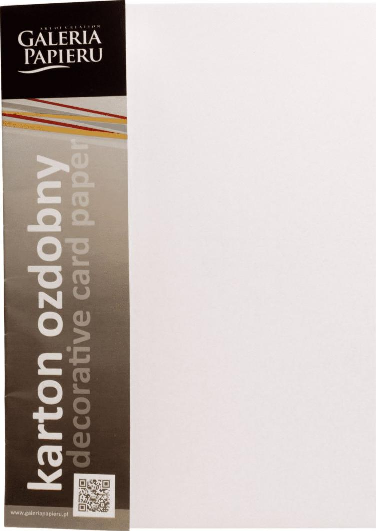 Argo Papier Karton Ozdobny A4 Floryda Standard Biały 20k 1