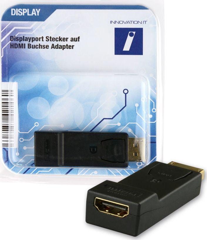 Adapter AV Innovation IT DisplayPort - HDMI Czarny (2A 324064 DISPLAY) 1
