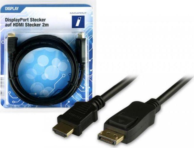 Kabel Innovation IT DisplayPort - HDMI 2m czarny (5A 400319 DISPLAY) 1