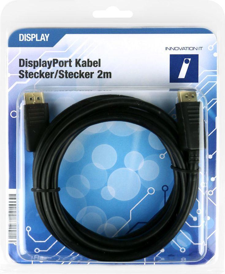 Kabel Innovation IT DisplayPort - DisplayPort 2m czarny (5A 602787 DISPLAY) 1