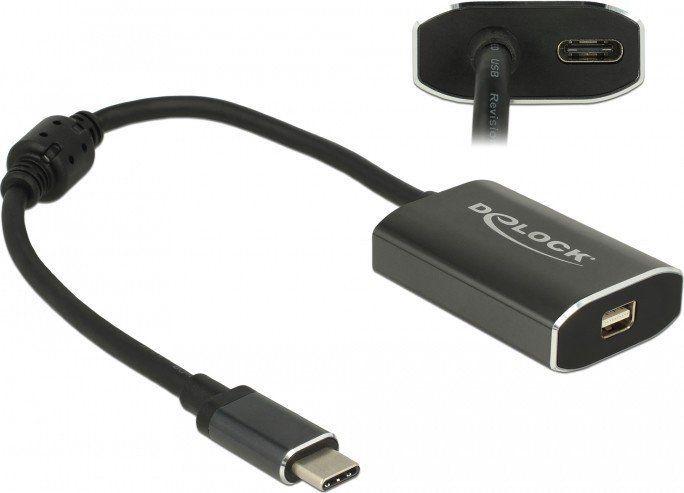 Adapter USB Delock KAB USB C > Adapter Mini Displayport Buchse DP-Alt Mode + 1 x USB Type-C™ PD Delock 1