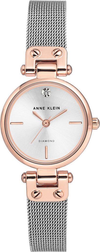 Zegarek Anne Klein Diamond Rose Gold Silver (AK/3003SVRT) 1