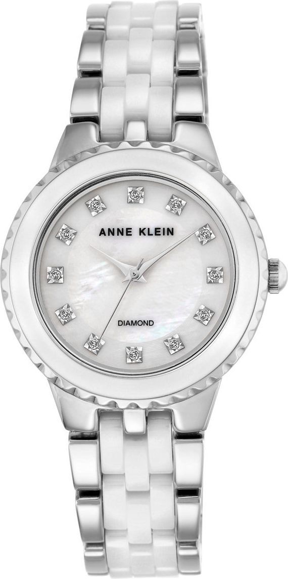 Zegarek Anne Klein Diamond Ceramic (AK/2713WTSV) 1