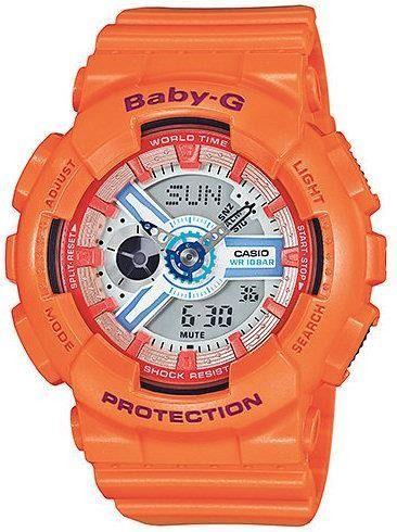 Zegarek BABY-G Damski BA-110SN-4AER Baby-G pomarańczowy 1