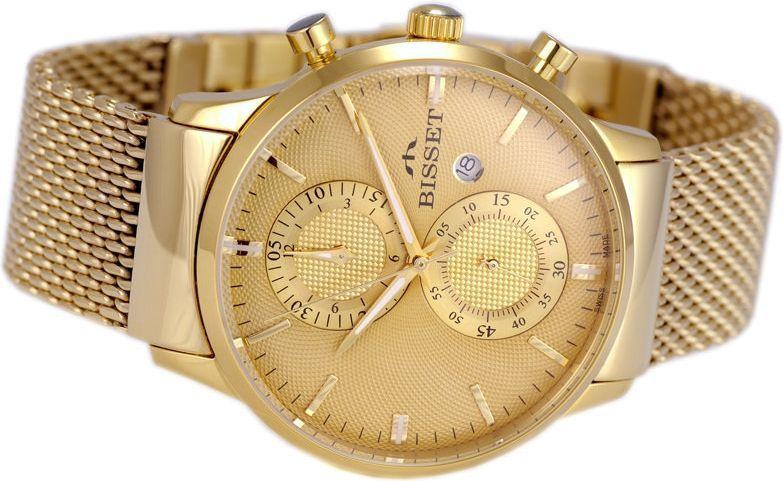 744d8934b2aeb1 Bisset Męski BSDD88 GIGX 05AX Chronograf złoty w Morele.net