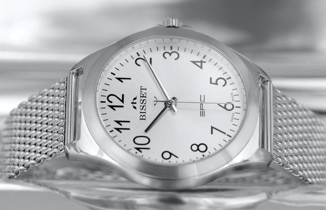 Zegarek Bisset Męski BSDE49 SASX 03BX Mesh srebrny 1