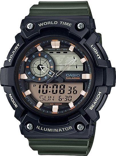 Zegarek Casio Męski AEQ-200W-3AVEF WorldTime czarny 1
