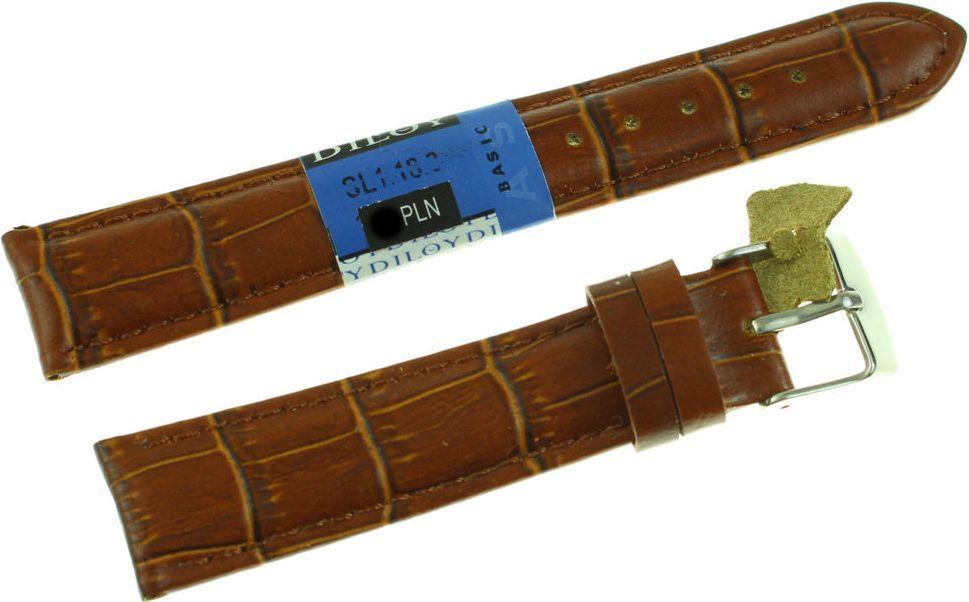 Diloy Skórzany pasek do zegarka 18 mm Diloy SL1.18.3 1