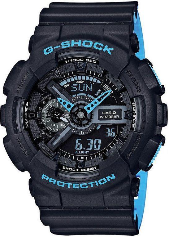 Zegarek Casio Męski GA-110LN-1AER G-Shock Neon czarno-niebieski 1
