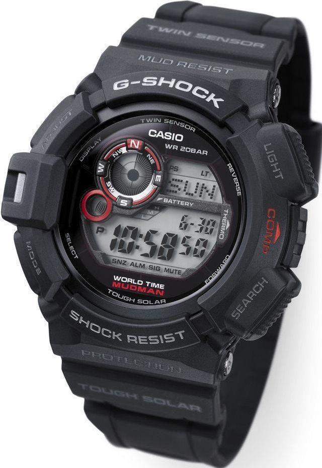 zegarek casio czarno czerwony elektryczny