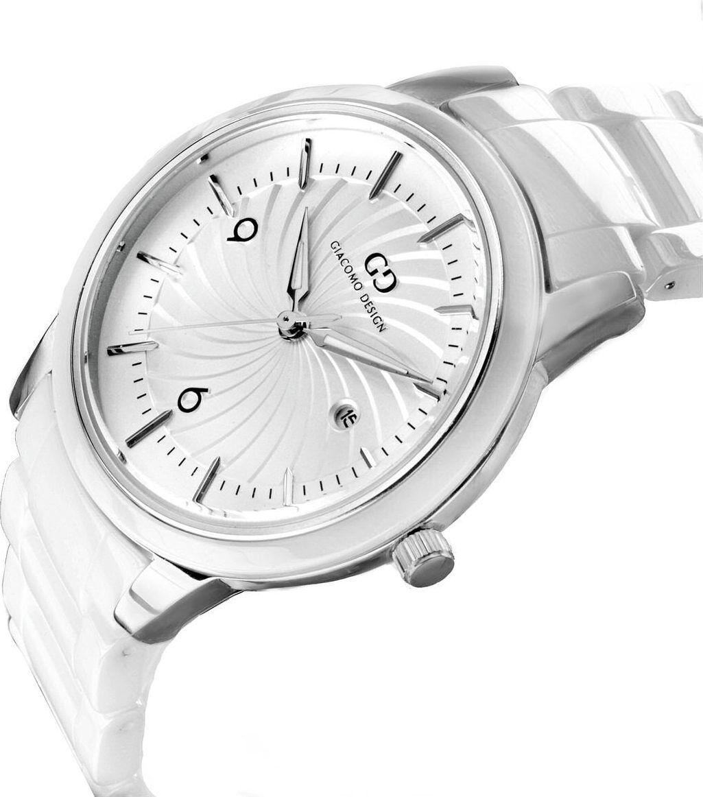 Zegarek Giacomo Design Elegancki ceramiczny (GD10001) 1
