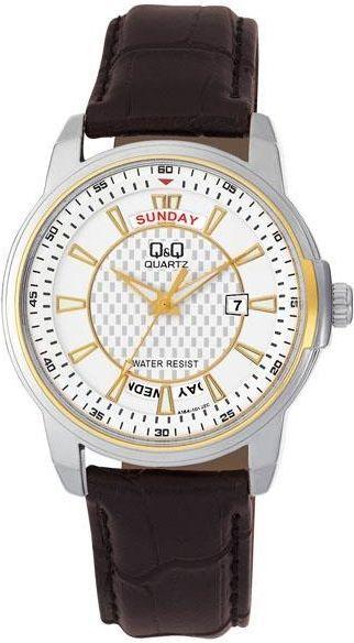Zegarek Q&Q A184-501 Męski Czarno-srebrny 1