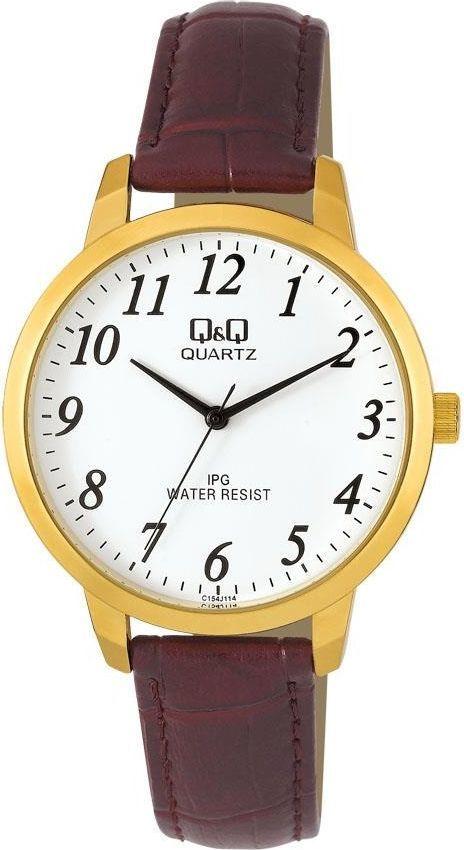 Zegarek Q&Q Męski C154-114 Klasyczny brązowy 1