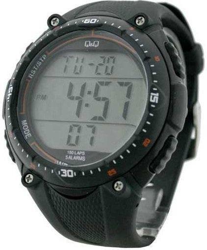 Zegarek Q&Q męski M010-001 Lap Memory 150  1