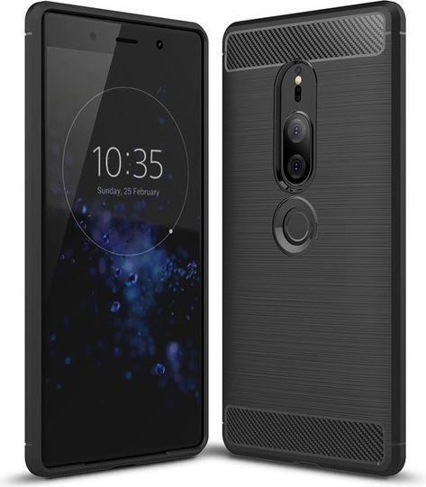 Hurtel Carbon Case elastyczne etui pokrowiec Sony Xperia XZ2 czarny 1