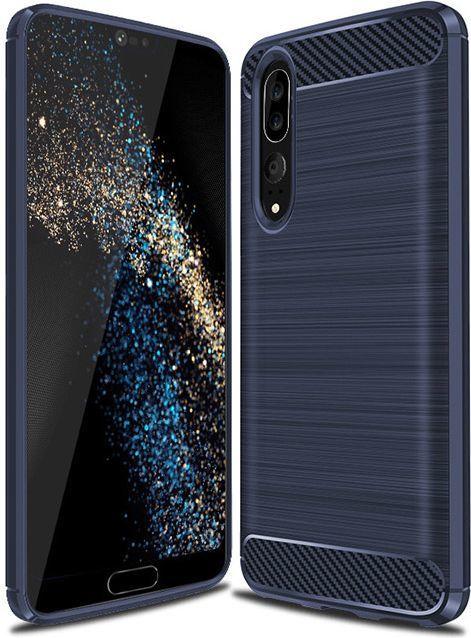 Hurtel Carbon Case elastyczne etui pokrowiec Huawei P20 niebieski 1