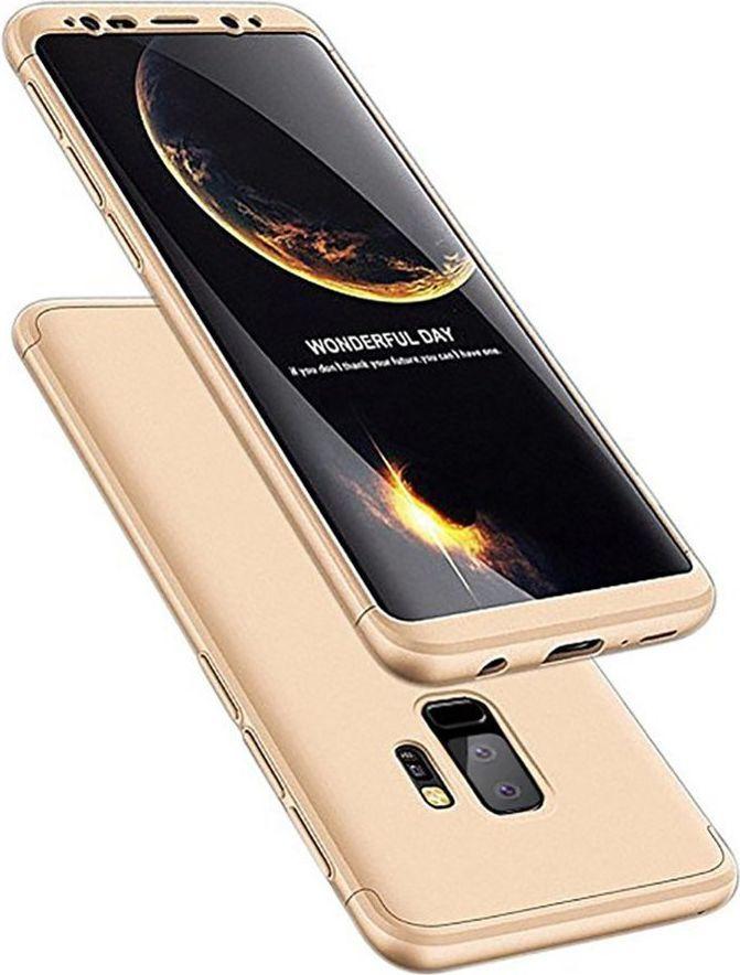 Hurtel 360 Protection etui na całą obudowę przód + tył Samsung Galaxy S9 Plus G965 złoty 1